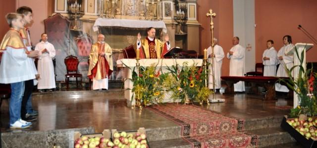 Parafialne dziękczynienie za plony miało miejsce w niedzielę, 24 sierpnia. Podczas Mszy św. o 10.30 delegacje wszystkich sołectw naszej parafii złożyły w procesji z darami wieńce żniwne i chleby. Po […]
