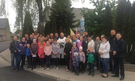 Poświęcenie odnowionej figury Matki Bożej w Gołuskach